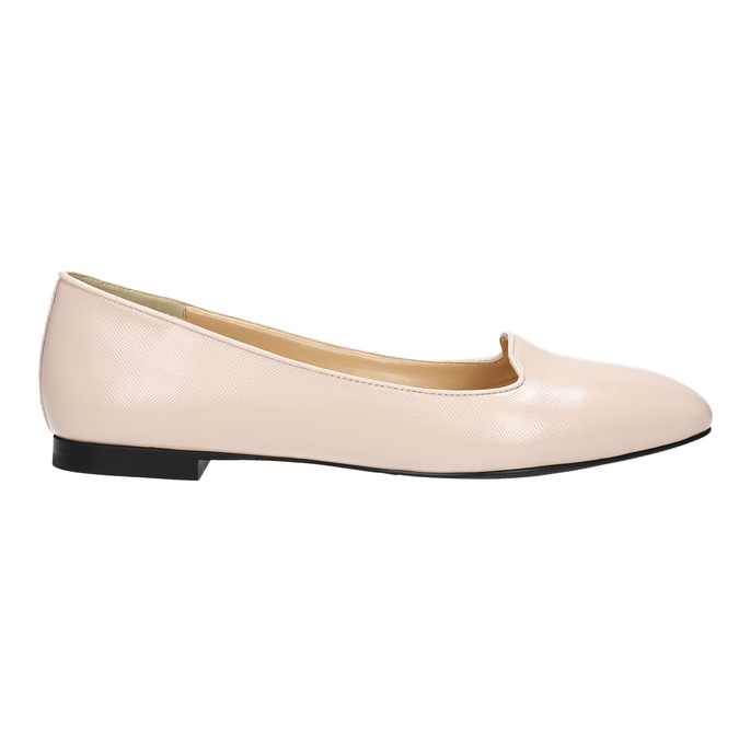 Baleriny damskie ze skóry bata, różowy, 528-5630 - 15