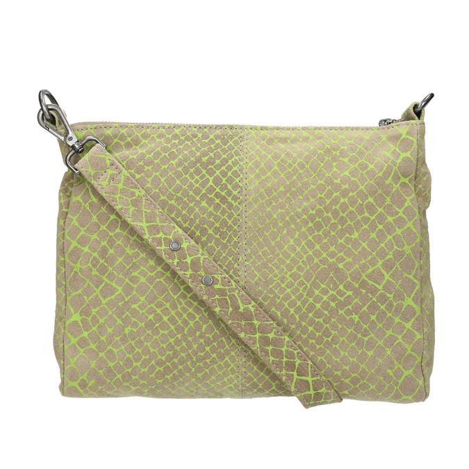 Skórzana torba damska typu crossbody fredsbruder, zielony, 963-7031 - 26