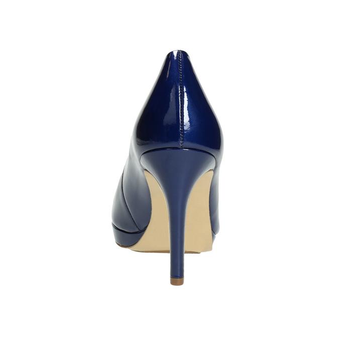 Lakierowane skórzane czółenka hogl, niebieski, 728-9400 - 17