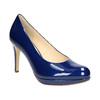 Lakierowane skórzane czółenka hogl, niebieski, 728-9400 - 13