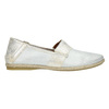 Skórzane slip-on damskie bata, biały, 516-1604 - 15
