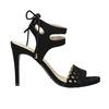 Czarne sandały na szpilce bata, czarny, 769-6603 - 15