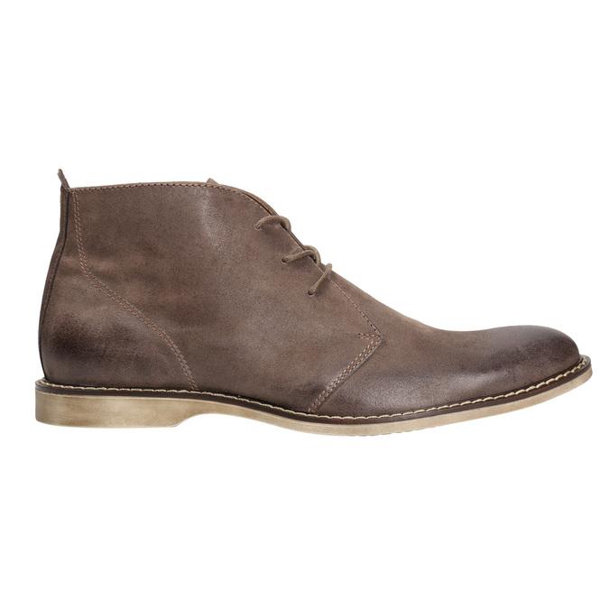 Skórzane buty za kostkę bata, brązowy, 826-4600 - 15