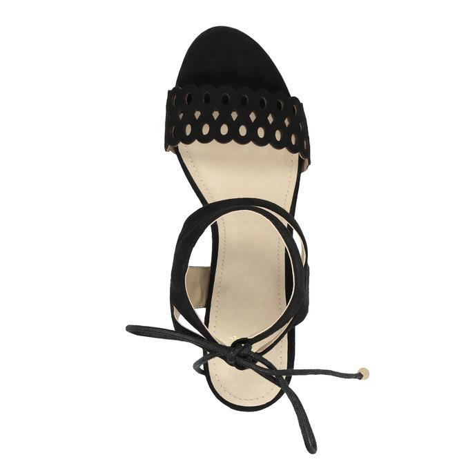 Czarne sandały na szpilce bata, czarny, 769-6603 - 19