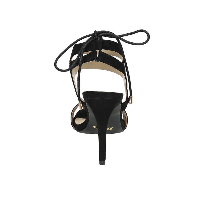 Czarne sandały na szpilce bata, czarny, 769-6603 - 17