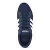 Granatowe trampki męskie zmateriału tekstylnego adidas, niebieski, 889-9235 - 17