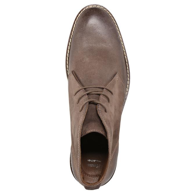 Skórzane buty za kostkę bata, brązowy, 826-4600 - 19