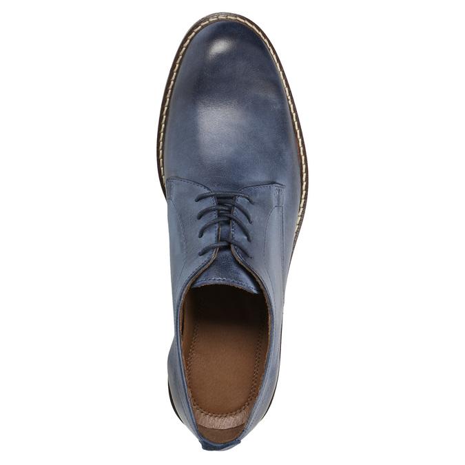 Granatowe skórzane półbuty bata, niebieski, 826-9601 - 19