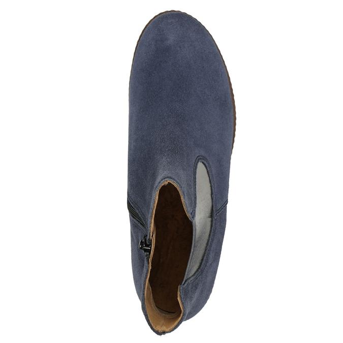 Zamszowe botki gabor, niebieski, 613-9013 - 26