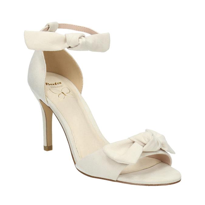 Sandały damskie zkokardami insolia, biały, 769-1614 - 13