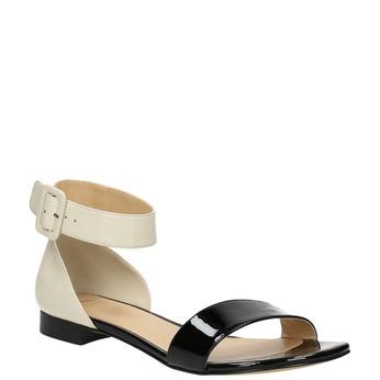 Lakierowane skórzane sandały bata, czarny, 568-6606 - 13