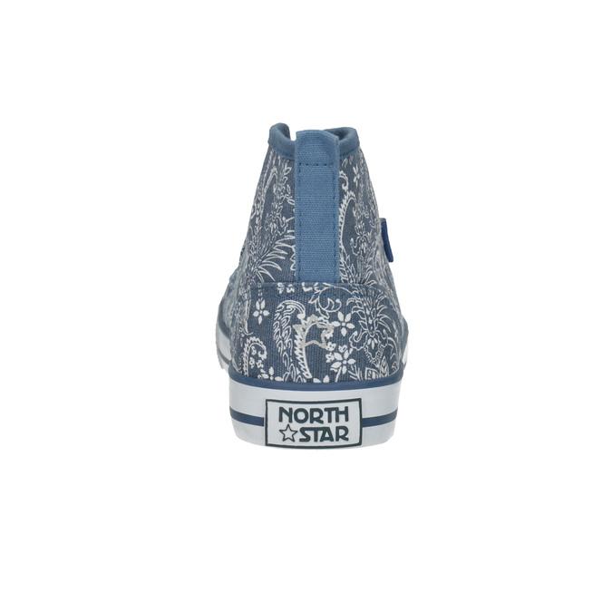 Wzorzyste trampki damskie za kostkę north-star, niebieski, 589-9442 - 17