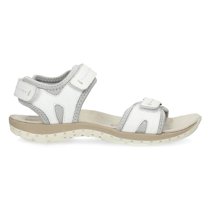 Skórzane sandały damskie wstylu outdoor weinbrenner, biały, 566-1608 - 19