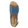Skórzane sandały damskie weinbrenner, niebieski, 566-9628 - 19