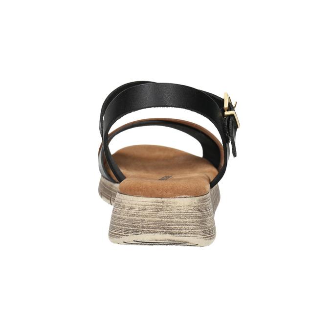 Sandały damskie na grubej podeszwie weinbrenner, czarny, 566-6626 - 17