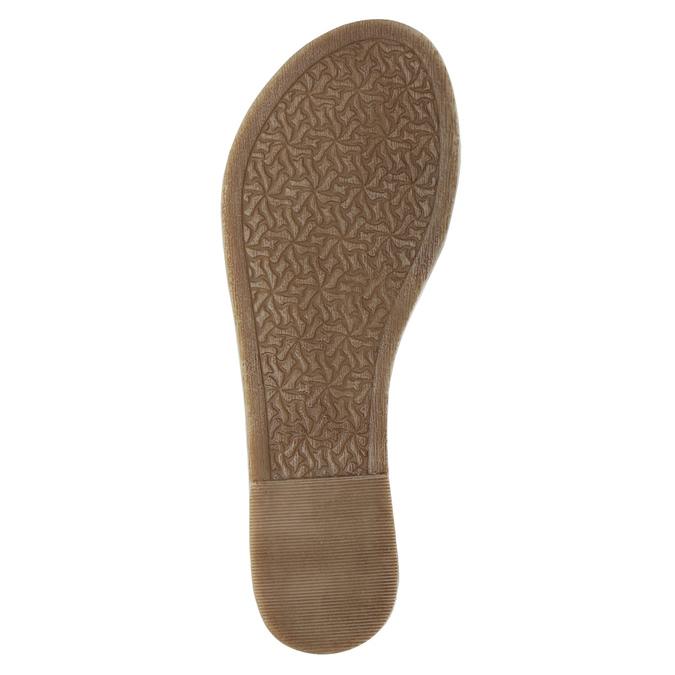 Brązowe sandały ze skóry bata, brązowy, 566-4613 - 26