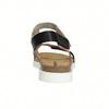 Skórzane sandały damskie na rzepy weinbrenner, różowy, 566-3630 - 17