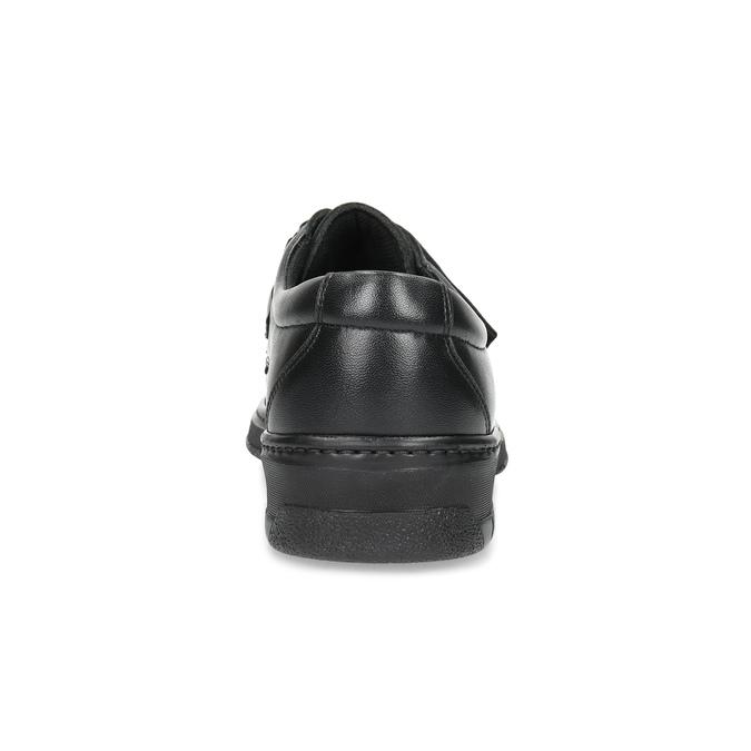 Skórzane mokasyny męskie zpaskami na rzepy pinosos, czarny, 824-6543 - 15