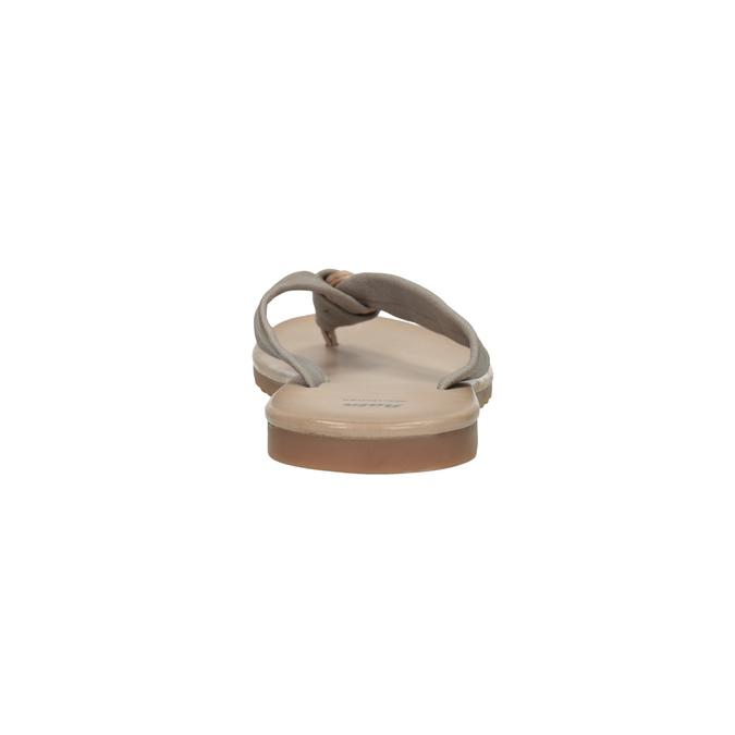Skórzane japonki damskie bata, szary, 566-2607 - 17
