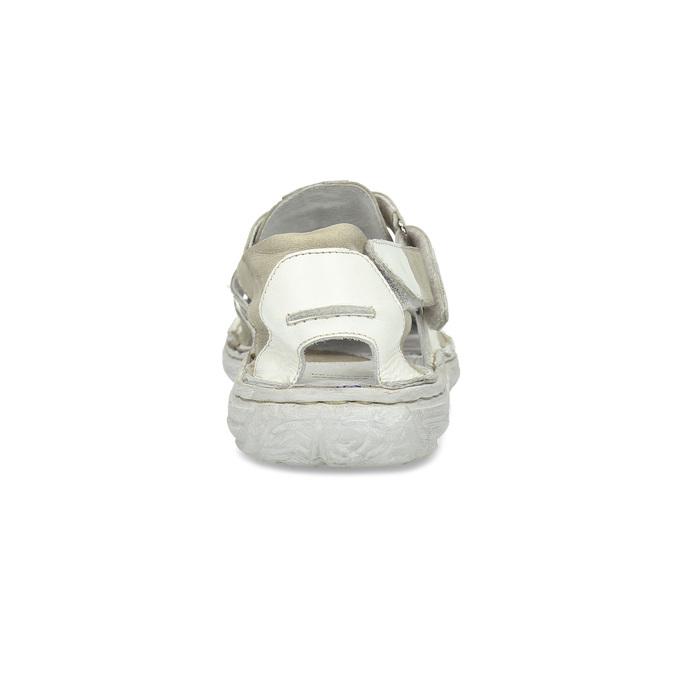 Jasne skórzane sandały męskie bata, biały, 866-1622 - 15