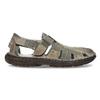 Brązowe skórzane sandały męskie bata, brązowy, 866-2622 - 19