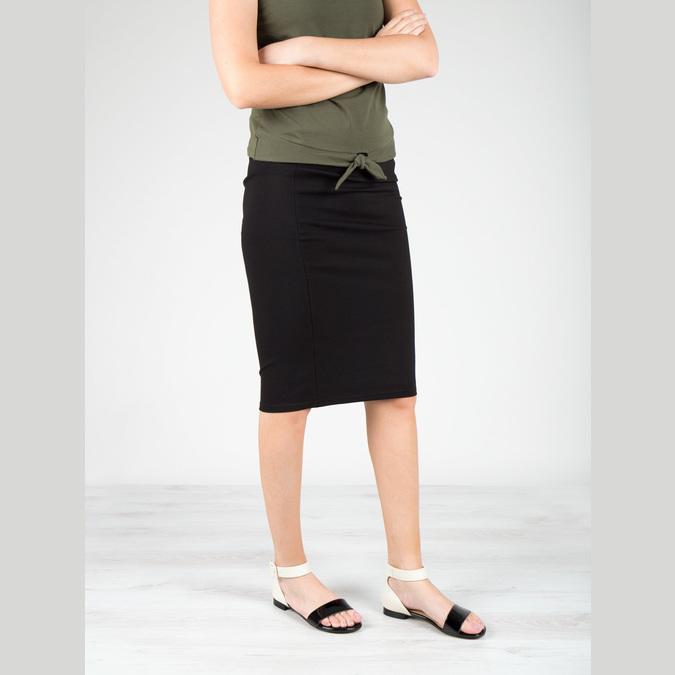 Lakierowane skórzane sandały bata, czarny, 568-6606 - 18