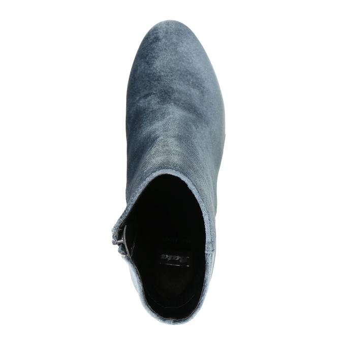 Aksamitne kozaki damskie bata, szary, 799-2616 - 19