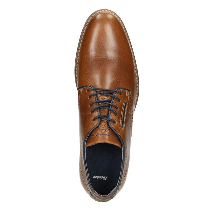 Nieformalne skórzane półbuty bata, brązowy, 826-3910 - 26