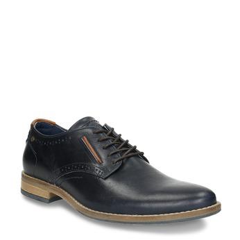 Nieformalne półbuty ze skóry bata, niebieski, 826-9910 - 13
