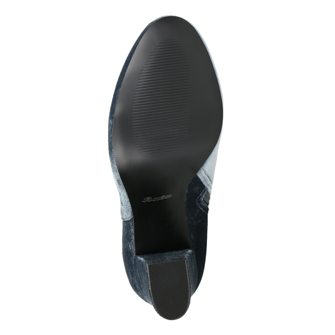 Aksamitne kozaki damskie bata, szary, 799-2616 - 26