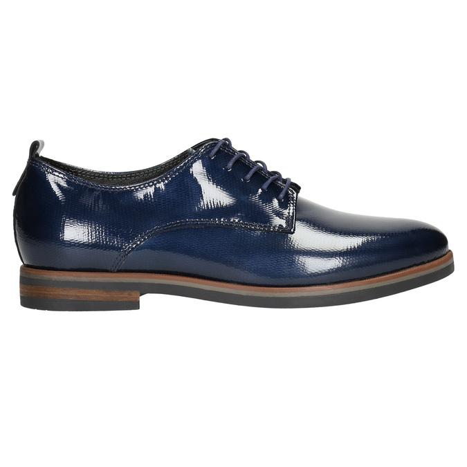 Skórzane półbuty damskie bata, niebieski, 528-9600 - 15