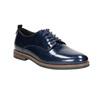 Skórzane półbuty damskie bata, niebieski, 528-9600 - 13