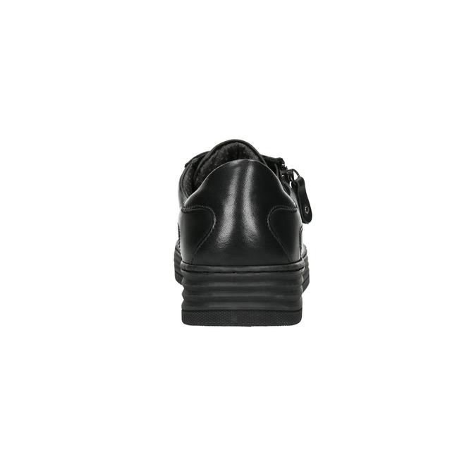 Skórzane trampki damskie bata, czarny, 526-6630 - 17