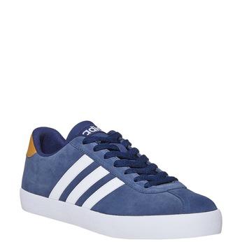 Skórzane trampki męskie adidas, niebieski, 803-9197 - 13