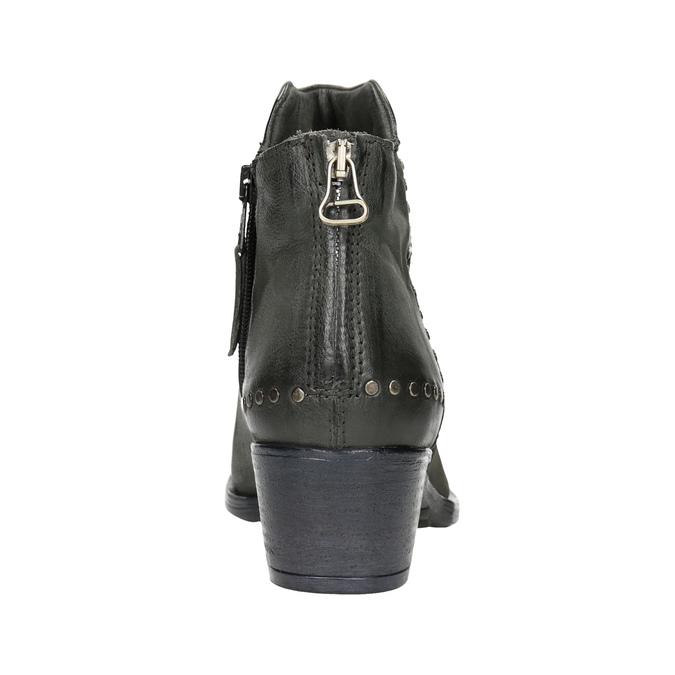 Skórzane botki bata, szary, 596-9659 - 16