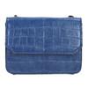 Niebieska torebka zfakturą bata, niebieski, 961-9753 - 19