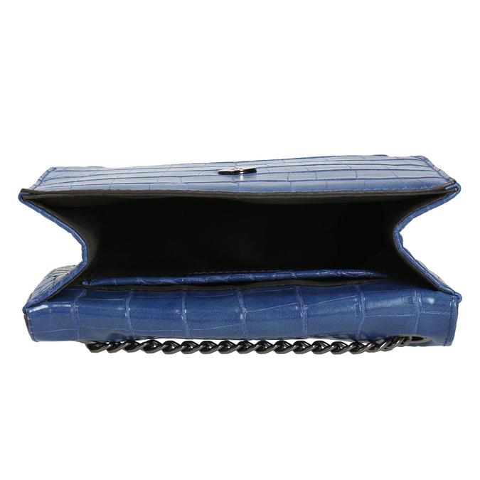 Niebieska torebka zfakturą bata, niebieski, 961-9753 - 15