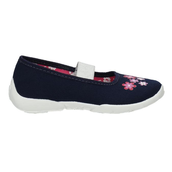 Kapcie wkwiatki mini-b, niebieski, 379-9215 - 15