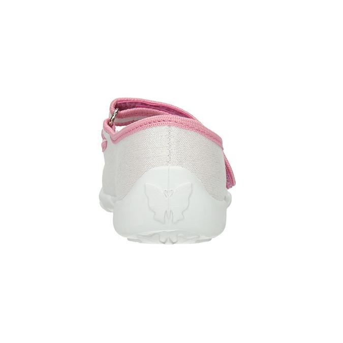 Kapcie dziecięce zkokardkami mini-b, biały, 379-1214 - 17