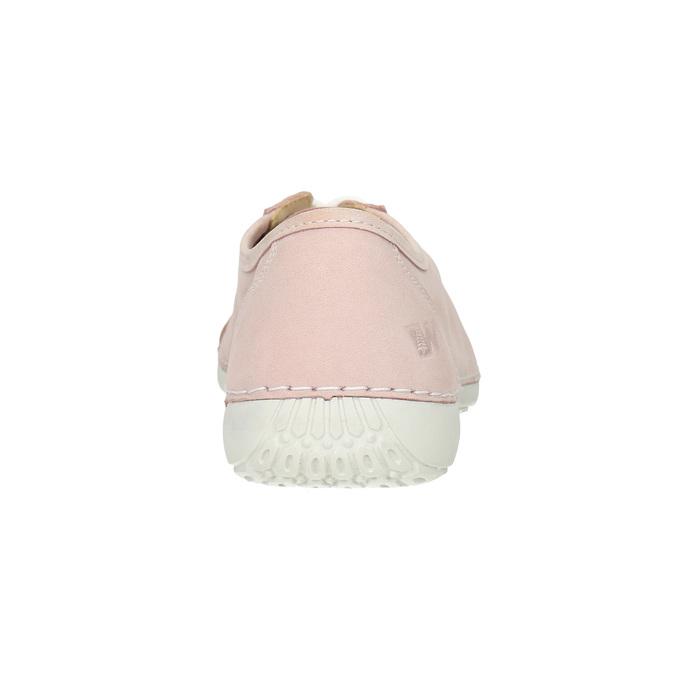 Skórzane trampki damskie weinbrenner, różowy, 526-5644 - 16
