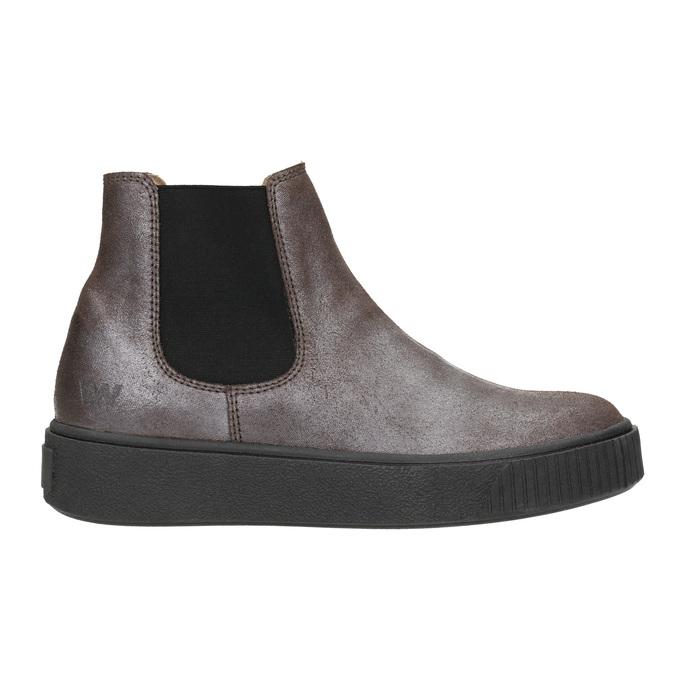 Skórzane obuwie damskie typu chelsea bata, brązowy, 596-1671 - 26