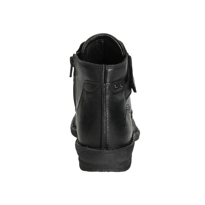 Botki damskie bata, czarny, 596-6656 - 17