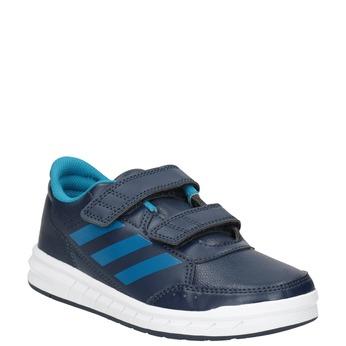 Niebieskie trampki dziecięce adidas, niebieski, 301-9197 - 13