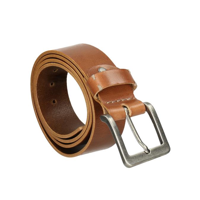 Skórzany pasek męski bata, brązowy, 954-3191 - 13