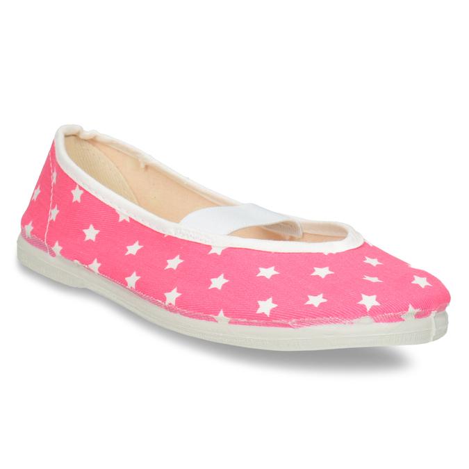 Dziecięce balerinki w gwiazdki bata, różowy, 379-5217 - 13