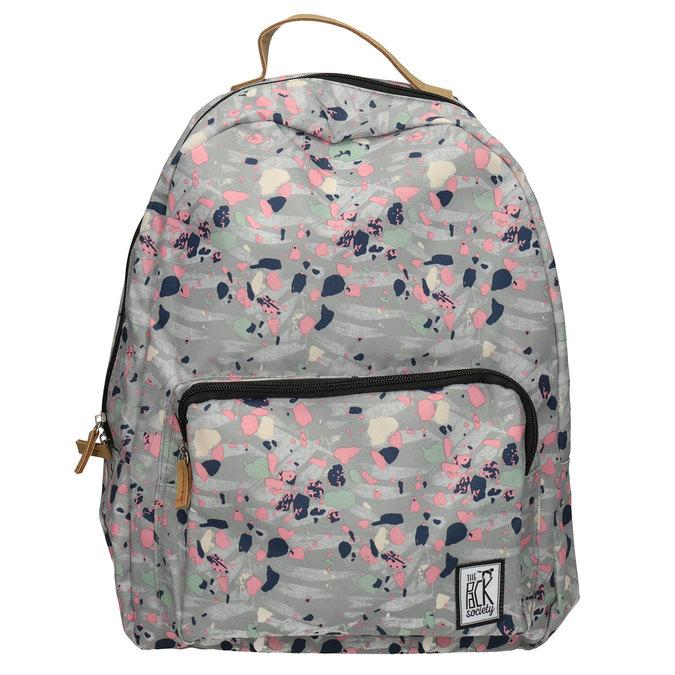 Plecak wkolorowy deseń, szary, 969-2085 - 26
