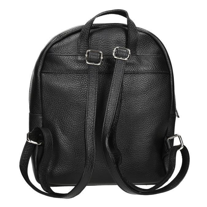 Czarny skórzany plecak bata, czarny, 964-6240 - 16