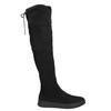 Czarne kozaki damskie za kolana bata, czarny, 699-6634 - 15