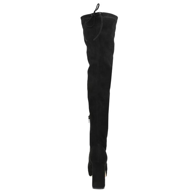 Czarne kozaki damskie za kolana bata, czarny, 799-6663 - 17