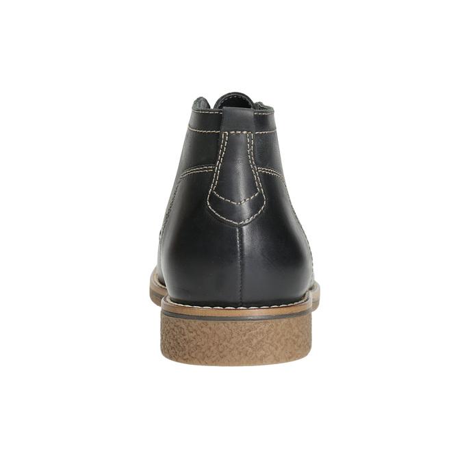 Obuwie męskie za kostkę, zprzeszyciami bata, czarny, 826-6614 - 17